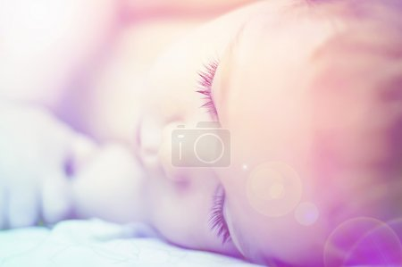 Sweet dreams of beautiful baby with long eyelashes