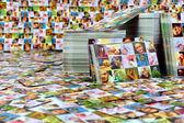 """Постер, картина, фотообои """"Огромное количество печатной продукции. Фото визитная карточка"""""""