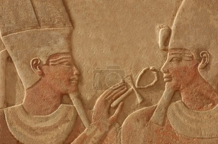 Magnificent bas relief of the god amun makes the g...