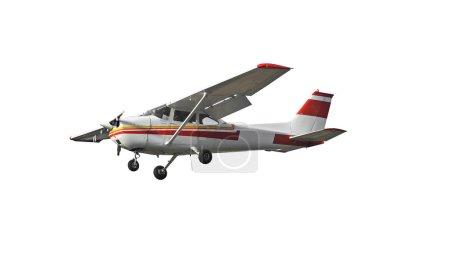 Photo pour La plus populaire avion léger jamais construite avec les aile généraux et propellar unique. isolé sur fond blanc - image libre de droit