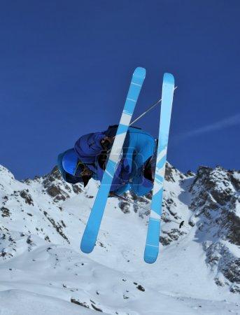 Blue ski jumper