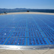 Photovoltaic cells embedded in the pavement used a...