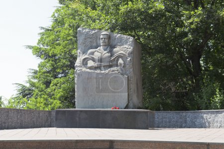 Monument to soldiers-internationalists in Lazarevskoye, Sochi, Russia