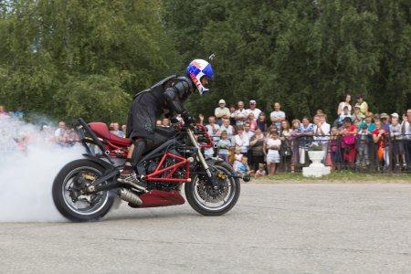Demonstration performance stantraydera Alexei Kalinin Verkhovazhye, Vologda region, Russia