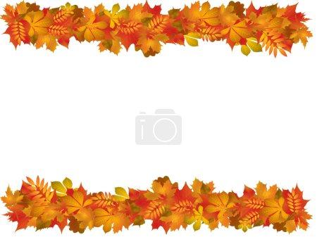 Photo pour Illustration avec feuilles d'automne - image libre de droit