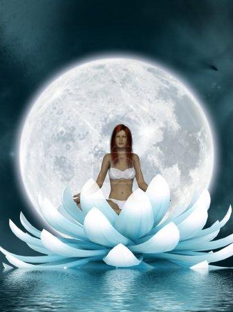 Photo pour Belle méditation - image libre de droit