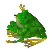Zvířecí láska: dvě žáby v lásce