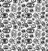 Seamless structure on which eyes are represented