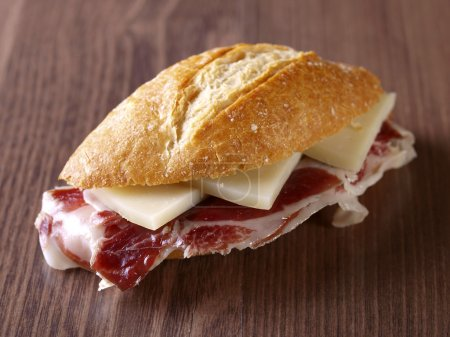 Cured ham and cheese Sandwich.