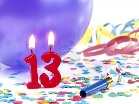 Birthday candles showing Nr. 13