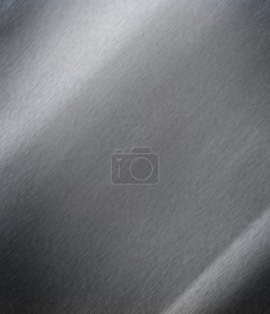 Photo for Brushed metal plate - Royalty Free Image