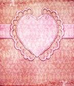 Vintage valentine's day design (invitation template)