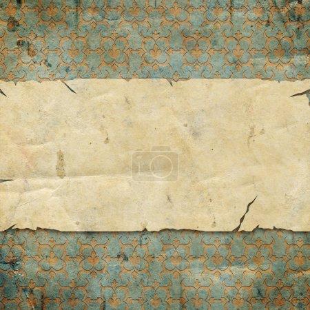 Photo pour Ancienne texture de papier avec espace pour le texte ou l'image - image libre de droit