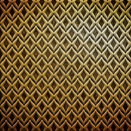 Photo for Metal ornament (gold classic pattern) - Royalty Free Image