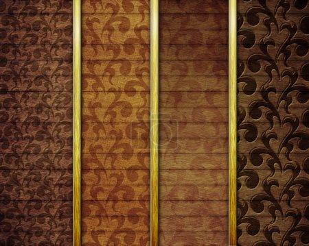 Photo pour Planches ornementales en bois - image libre de droit