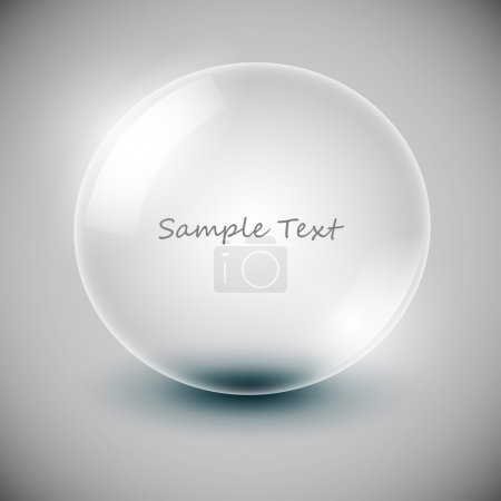 Illustration for Vector transparency ball (soap bubble) - Royalty Free Image