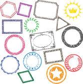 16 detailed grunge stamps vectors