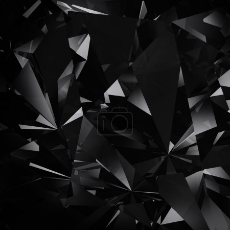 Photo for Black facet background - Royalty Free Image