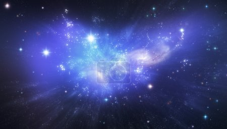 Blue Galaxy background