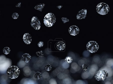 Falling diamonds