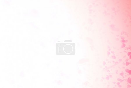 Photo for Valentine background with falling red rose petals - Royalty Free Image