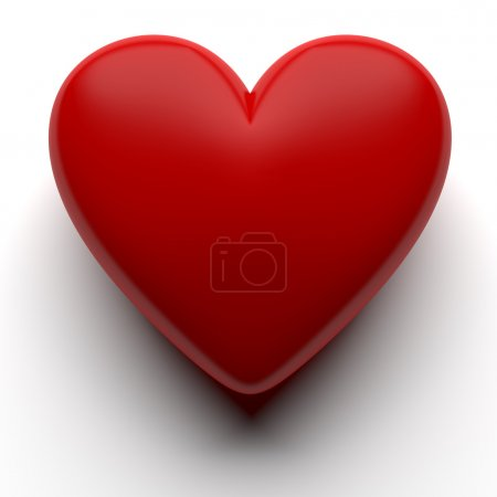 Photo for Red 3D heart isolated with clipping path - Royalty Free Image