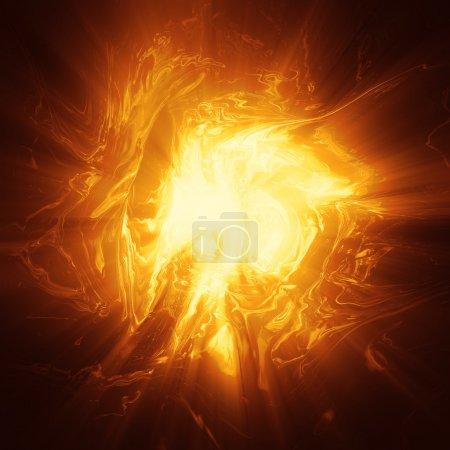 Photo for Oragne plasma energy background computer generated illustration - Royalty Free Image