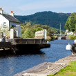 Canal Lock at Cairnbaan Bridge on the Crinan Canal...