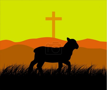Lamb and cross