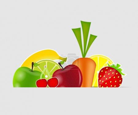 Illustration pour Illustration vectorielle des fruits frais - image libre de droit