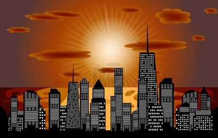 Photo pour Illustration vectorielle de la silhouette des villes. SPE 10 . - image libre de droit