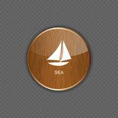 Sea wood application icons vector illustration