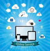 Online service concept vector illustration