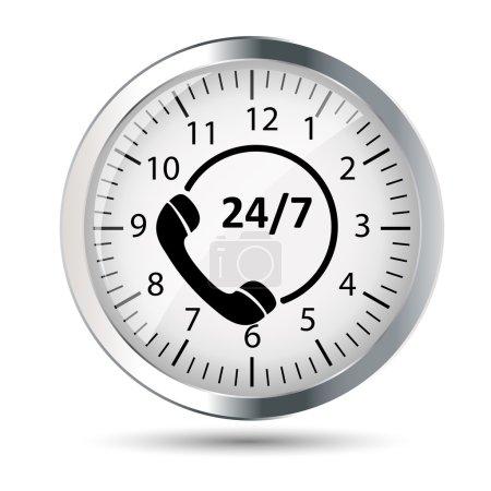 Customer service 24/7 application icon