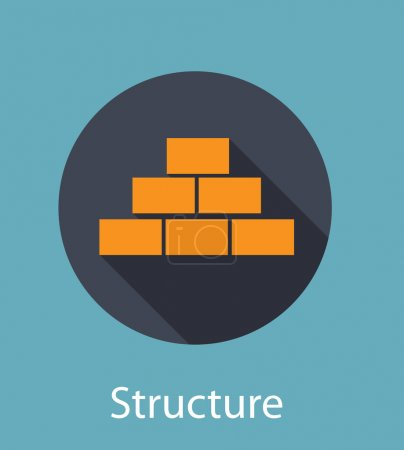 Structure Flat Concept Icon Vector Illustration