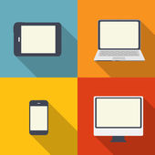 Computing Concept on Different Electronic Devices Vector Illust