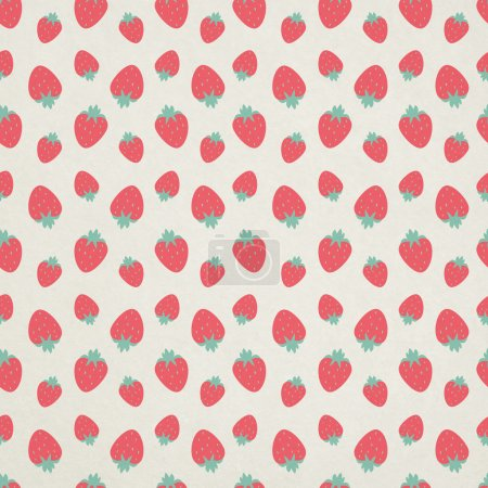 Photo for Cute seamless strawberry pattern - Royalty Free Image