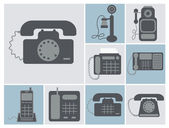 Set of lineland home phones