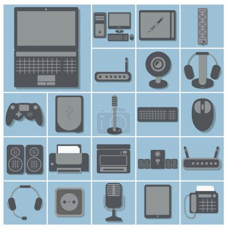 icon set of computer gadgets