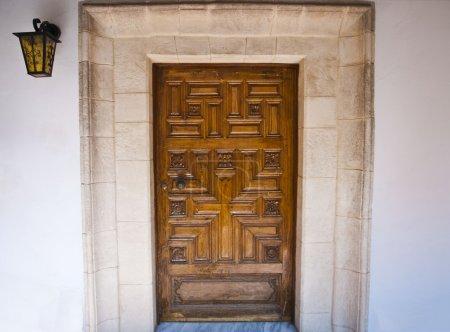 Wood door in monastery