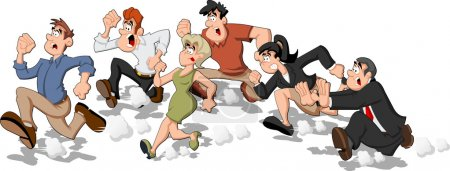Cartoon running