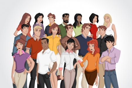 Illustration for Group of cartoon business - Royalty Free Image