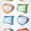 Colorful template elements for advertising brochur...