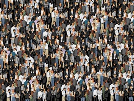 Photo pour Contexte avec des centaines d'entreprises - image libre de droit