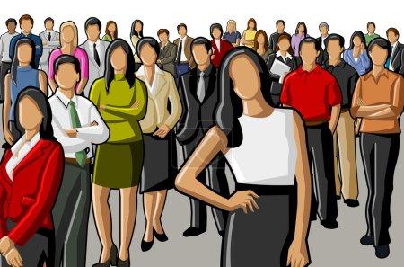 Illustration pour Groupe d'affaires - image libre de droit