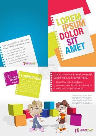 Photo pour Modèle coloré avec les enfants à l'école - image libre de droit