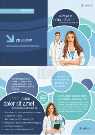 Photo for Medical template for advertising brochure with doctors - Royalty Free Image