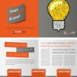 Gray and orange template for advertising brochure ...