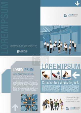 Illustration pour Modèle de brochure publicitaire avec entreprise - image libre de droit