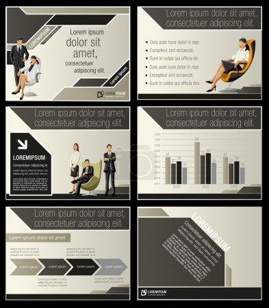 Illustration for Business Template. Vector illustration. - Royalty Free Image